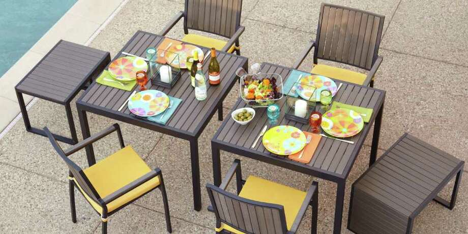 Al fresco dining gets even better servered on fun floral plates. Pop Plates, $5.95 each. Crate and Barrel. Credit: Crate and Barrel / San Antonio Express-News