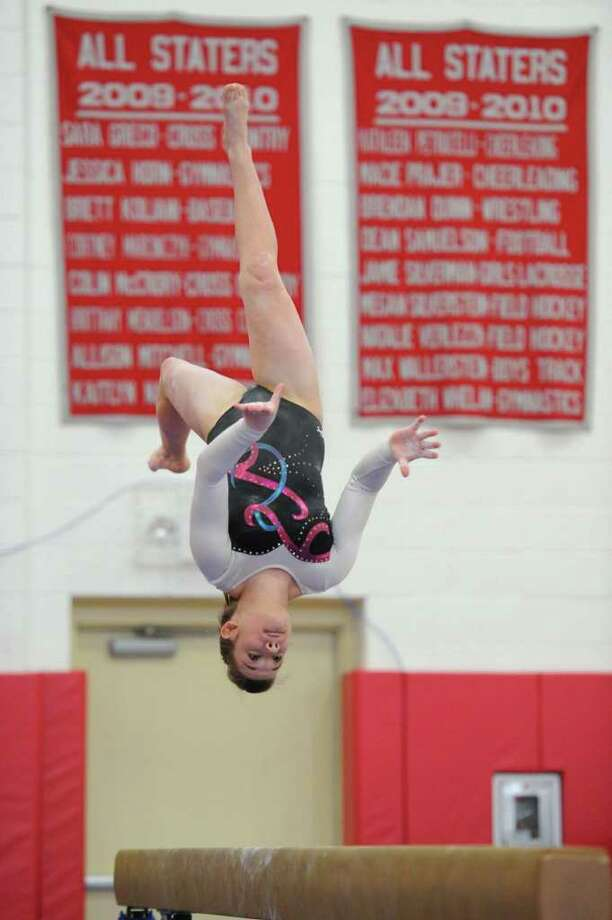 Shannon St. Jean photographed in competition at Pomperaug High School in Southbury this March. Photo: Contributed Photo / The News-Times Contributed