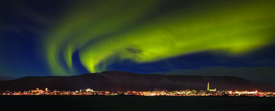 Thingvellier National Park, situated in a rift vallery where the North American and Eurasian tectonic plates meet, is a popular place from which to view the northern lights. COURTESY RAGNER TH. SIGURDSSON
