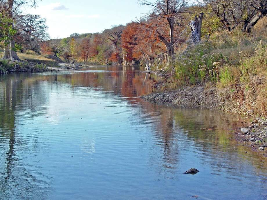 A 680-acre property in Kendall County has a mile of Guadalupe River frontage that might appeal to people looking to retire in a scenic Hill Country setting. The land is on the market for $6.6 million. Photo: COURTESY OF PHYLLIS BROWNING CO.
