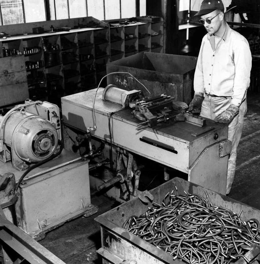 A man at Bethlehem Steel Co. in an undated P-I photo. Photo: Seattlepi.com File
