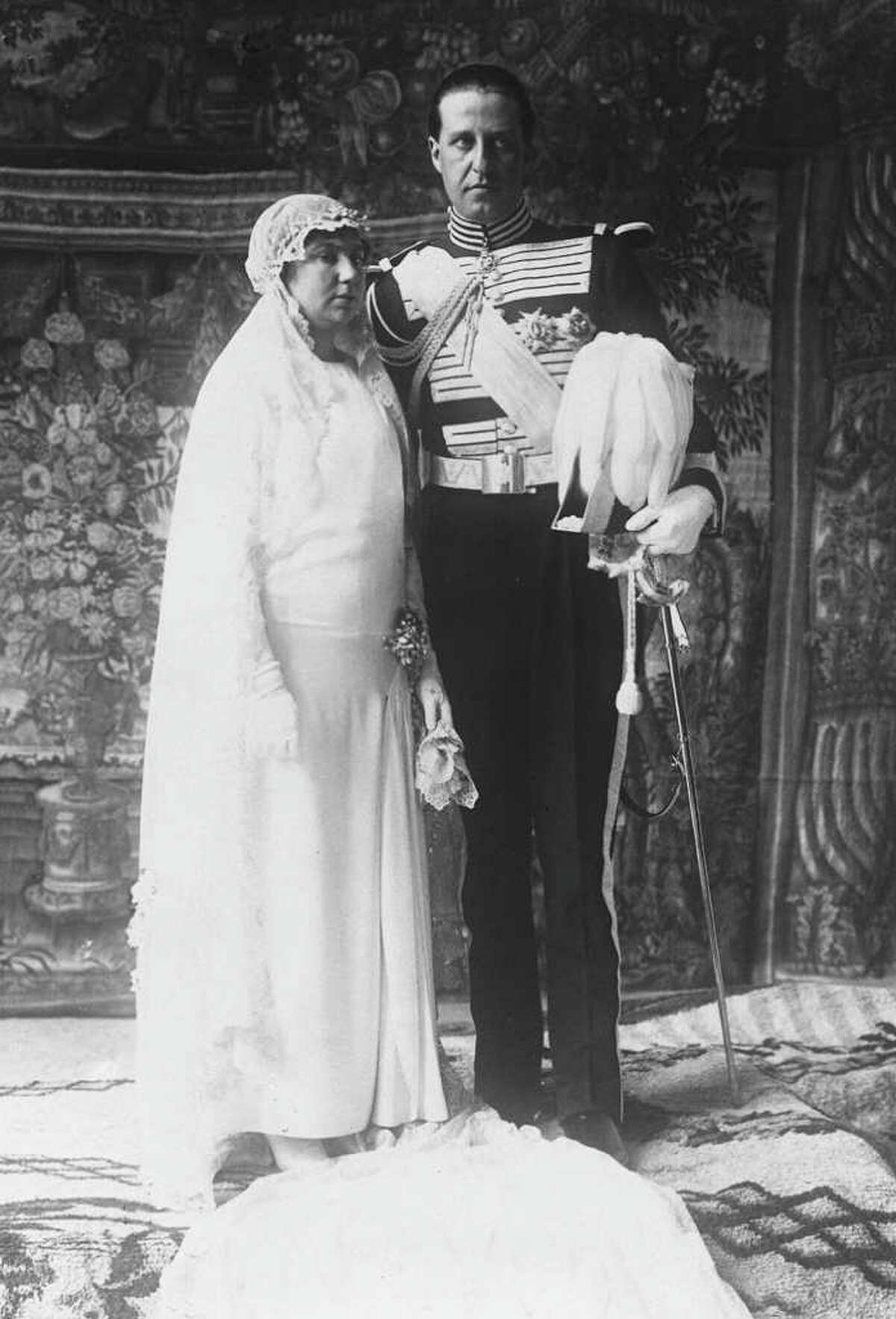 Formal picture following the wedding of Infanta Isabel Alfonsa of Spain, and Count Zemoisky Jan Kany of Poland, that took place in the Chapel of the Royal Palace, in Madrid, March 9, 1929. (AP Photo)