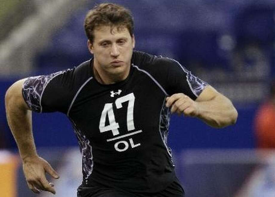 Colorado tackle Nate Solder is 6-foot-8 and 319 pounds, but he may need to polish his technique. DARRON CUMMINGS/ASSOCIATED PRESS