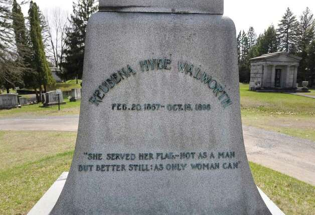 The monument honoring Reubena Hyde Walworth at Greenridge Cemetery in Saratoga Springs, N.Y. Friday April 22, 2011. (Lori Van Buren / Times Union) Photo: Lori Van Buren