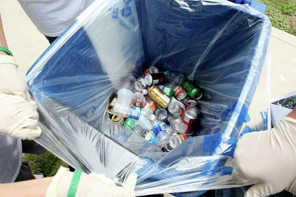 3. Recycling bins will be available for plastic bottles and cans.
