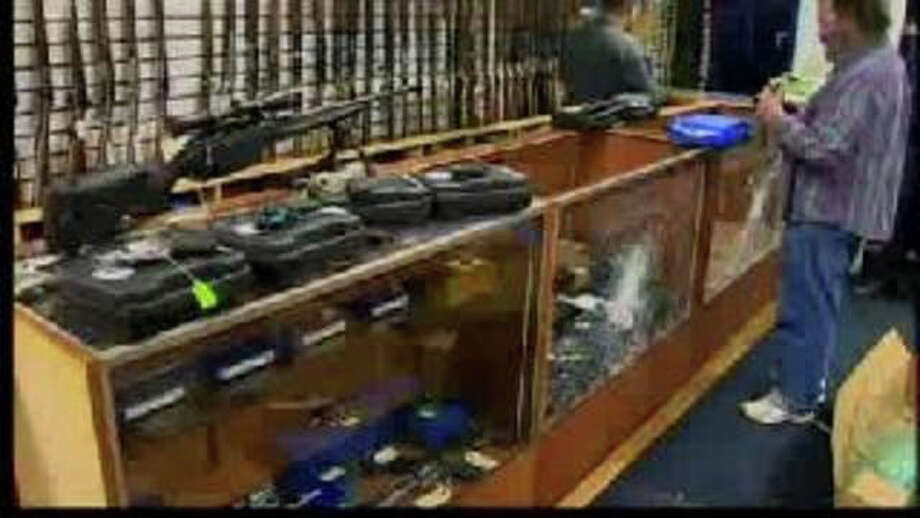 North Branford police are investigating a burglary at a gun shop on Route 80 early Sunday morning. Photo: Contributed Photo / Connecticut Post Contributed