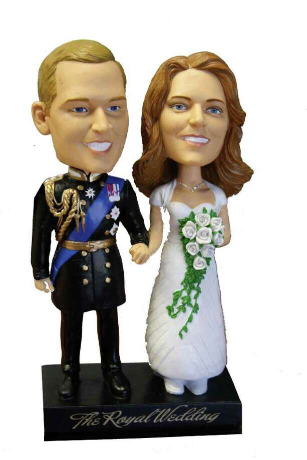 "William and Kate ""The Royal Wedding"" bobbleheads  ($29.95 at fadtoys.com) / DirectToArchive"