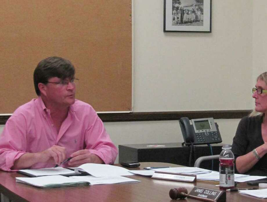 Pictured is Parks and Recreation Department Director Stuart McCarthy at Monday night's meeting of the Parks and Recreation Commission, during which the group voted to table an increase in the non-resident weekend daily parking fee at Compo Beach. Photo: Contributed Photo / Westport News
