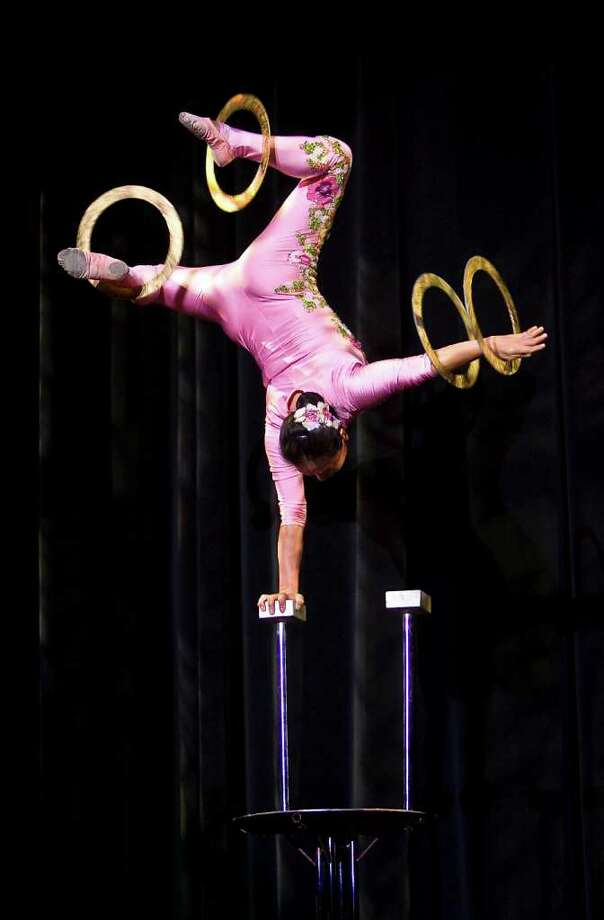 The circus is coming to Ridgefield. (Don't try this at home!) Photo: Contributed Photo / The News-Times Contributed