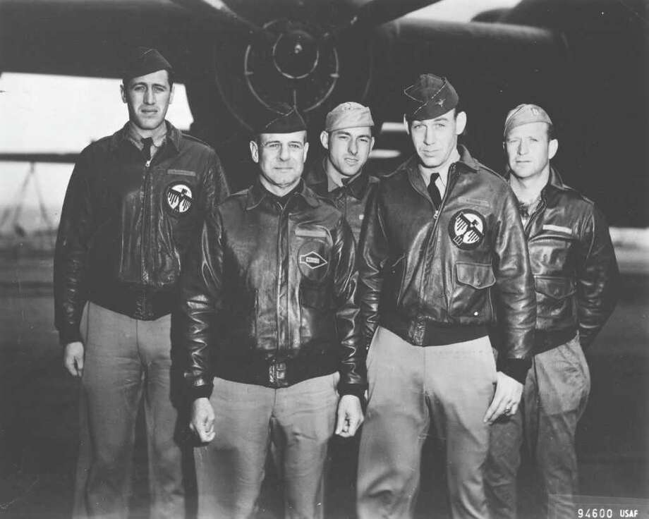 Lt. Col. Jimmy Doolittle was the pilot and Lt. Richard Cole, who now lives near Comfort, was the co-pilot of the lead plane on the Tokyo bombing mission early in World War II. (U.S. Air Force photo) Photo: Courtesy