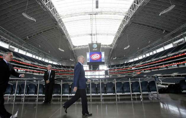 Dallas Cowboys owner Jerry Jones arrives for a predraft news conference at Cowboys Stadium on Tuesday, April 26, 2011, in Arlington. Photo: L.M. Otero/Associated Press / AP