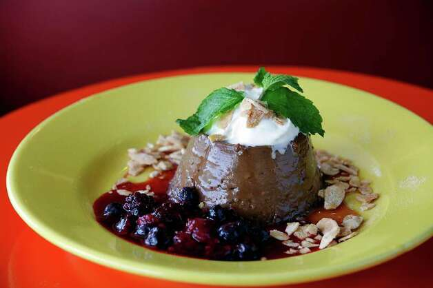 Mexican Chocolate Kahlua Flan at Rosario's Restaurant y Cantina. Photo: JERRY LARA, SAN ANTONIO EXPRESS-NEWS / SAN ANTONIO EXPRESS-NEWS