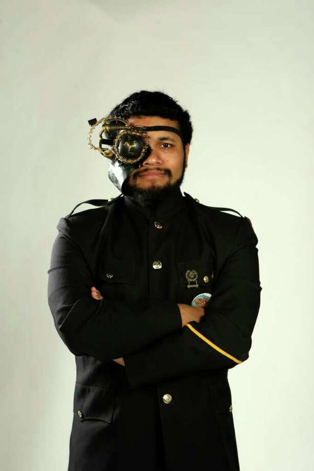 SA LIFE: Pablo Vazquez III is part of a local steampunk club and co-chair of AetherFest, a steampunk convention.  HELEN L. MONTOYA/hmontoya@express-news.net Photo: HELEN L. MONTOYA / San Antonio Express-News