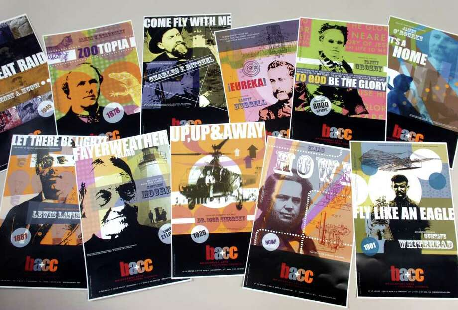 The Bridgeport Arts and Cultural Council (BACC) posters. Photo: Ned Gerard / Connecticut Post