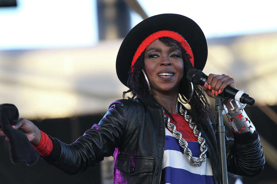 "Lauryn Hill, shown here at the recent Coachella festival, was called ""hoarse but tenacious"" during a recent concert. ASSOCIATED PRESS / Spencer@SAWfoto.com"