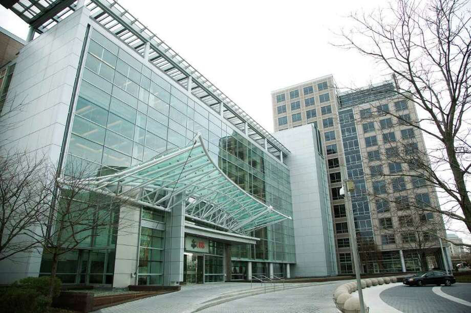 UBS is denying rumors that it is considering moving out of its massive Stamford headquaters building, but both city and state officials are holding meetings with the company to discuss its future. Photo: File Photo / Stamford Advocate File Photo