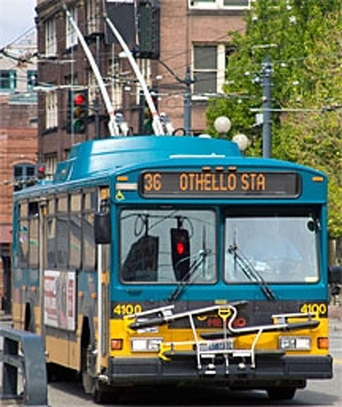 Electric trolley bus.
