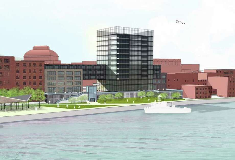 Rendering of proposed Troy waterfront development, April 27, 2011. (Courtesy Judge Development)