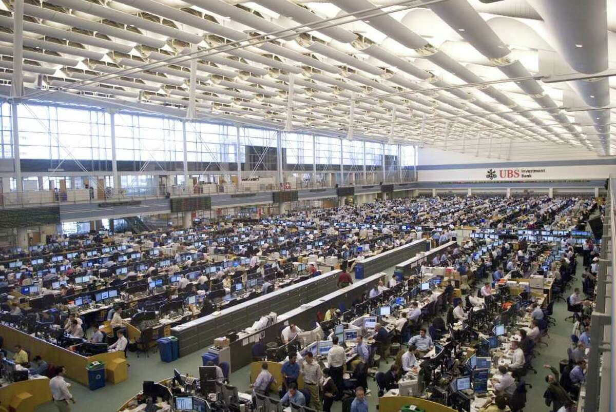 The trading floor at UBS North American Headquarters in Stamford is one of the largest in the world. The company has publically stated that it has no plans on relocating, but city and state officials have been meeting to discuss its future.