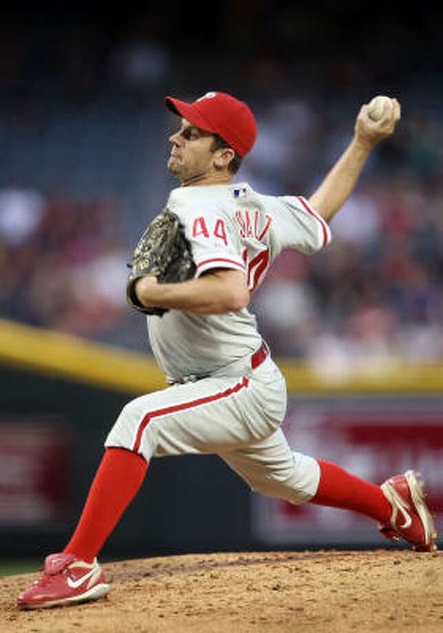 It's not clear if Roy Oswalt will be back for his next start with the Philadelphia Phillies. He threw 57 pitches on Tuesday. Photo: Christian Petersen, Getty Images