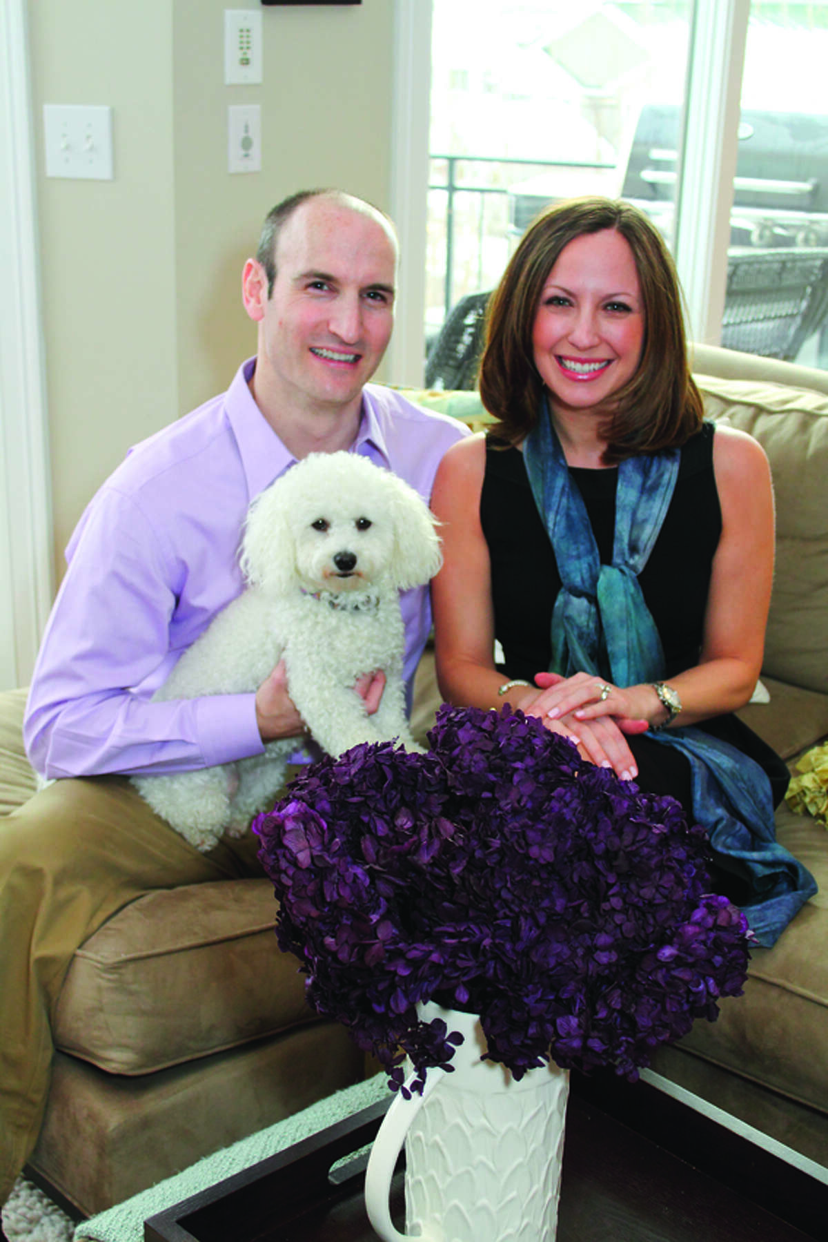 Luke and Nichole Rigolosi tranformed their condo from a bachelor pad to a newlywed nest. (Nancy Bruno/Life@Home) Click here to read the story.
