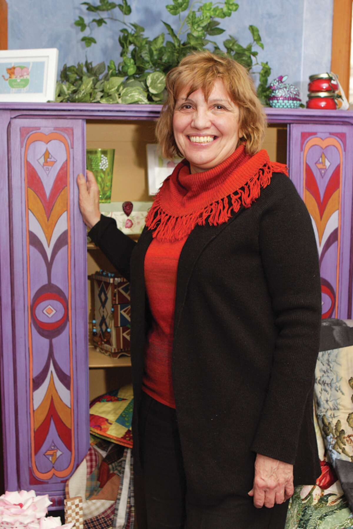 Artisan Rosemary Prock transforms everything from furniture to walls. (Krishna Hill/Life@Home) Click here to read the story.
