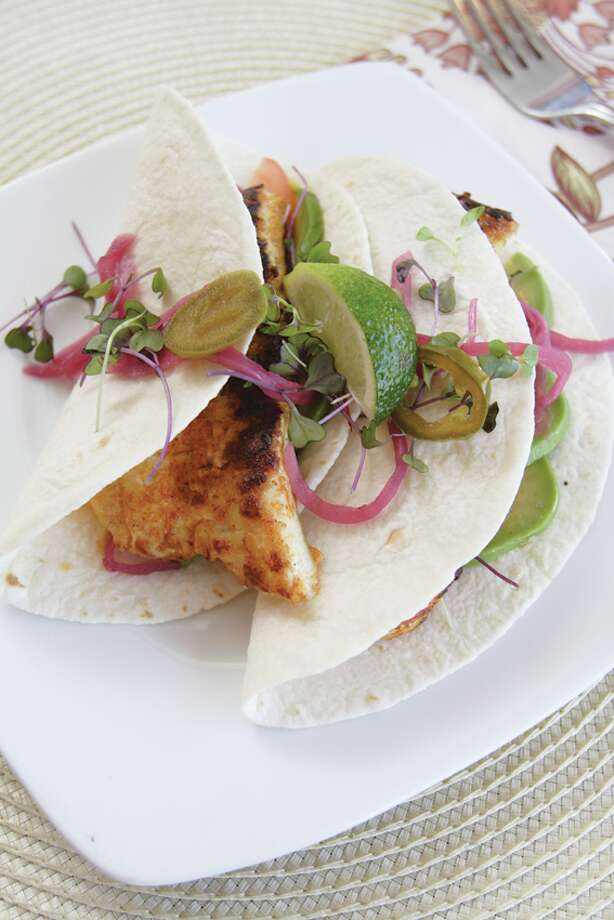 Chef Longton's fish tacos. (Suzanne Kawola/Life@Home) Click here to read the story, and here to get the recipe.