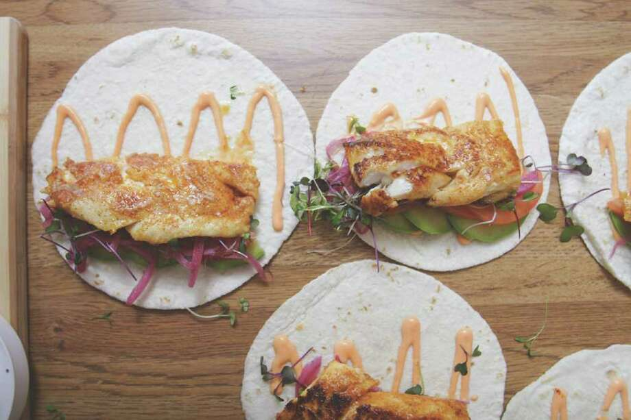 Chef Longton's tasty fish tacos. (Suzanne Kawola/Life@Home) Click here to read the story, and here to get recipe.