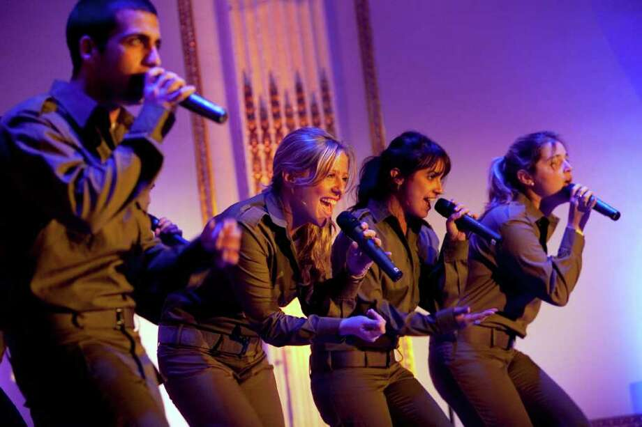 Members of IDF Musucal Ensemble sing at last year's 'Celebrate Israel' event Photo: Contributed Photo