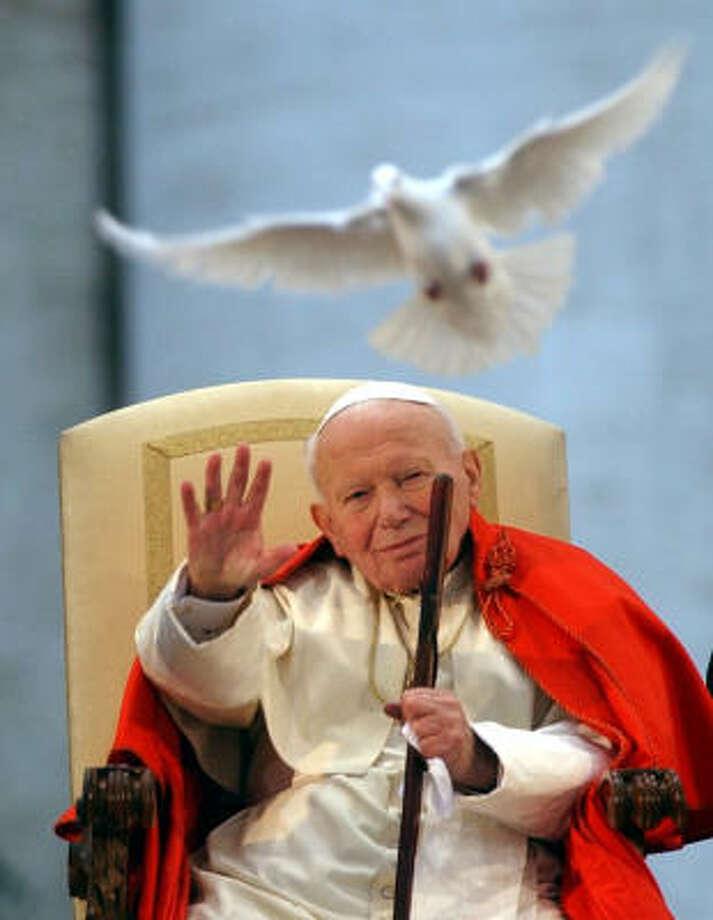 Pope John Paul II Photo: Associated Press File