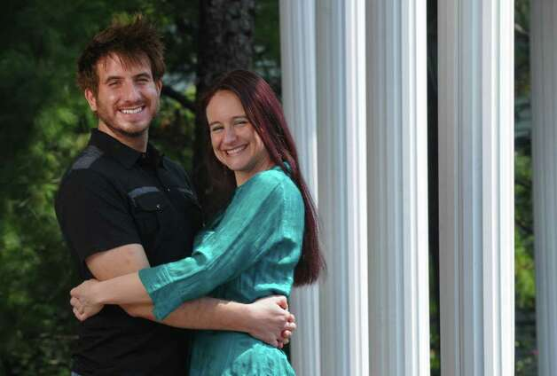 George Kalpaxis and Julie Herrmannsdoerfer will be married in Albany this Friday, on the same day as the British royal wedding of Prince William and Kate Middleton. They visited The Century House to finalize details of their wedding reception on Tuesday April 26, 2011 in Latham, NY.  George's parents were married in Greece on the same day that Prince Charles and Diana Spencer were married in 1981. ( Philip Kamrass / Times Union ) Photo: Philip Kamrass