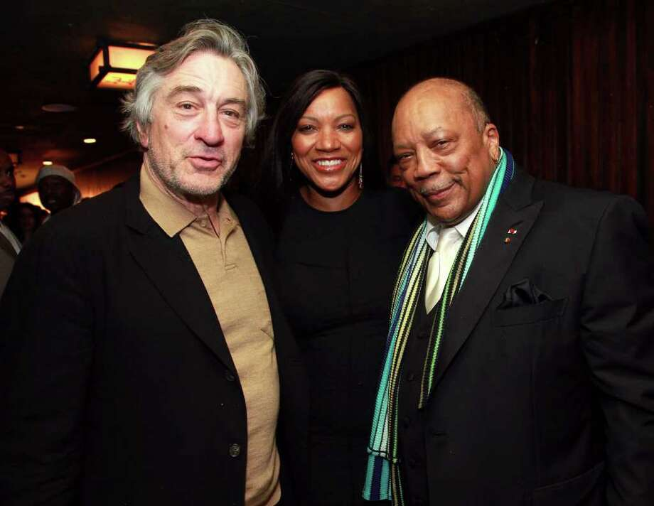 NEW YORK, NY - APRIL 28:  Tribeca Film Festival Co-Founder Robert De Niro, Grace Hightower and Quincy Jones attend the TFI Special Legacy Celebration Quincy Jones Tribute At The 2011 Tribeca Film Festival at Hiro Ballroom at The Maritime Hotel on April 28, 2011 in New York City.  (Photo by Astrid Stawiarz/Getty Images) *** Local Caption *** Robert De Niro;Grace Hightower;Quincy Jones; Photo: Getty Images