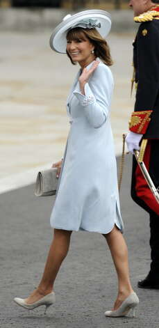 Carole Middleton, the mother of Kate Middleton, arrives at the West Door of Westminster Abbey for the wedding of Britain?s Prince William and Kate Middleton in London on April 29, 2011. AFP PHOTO / ODD ANDERSEN (Photo credit should read ODD ANDERSEN/AFP/Getty Images)