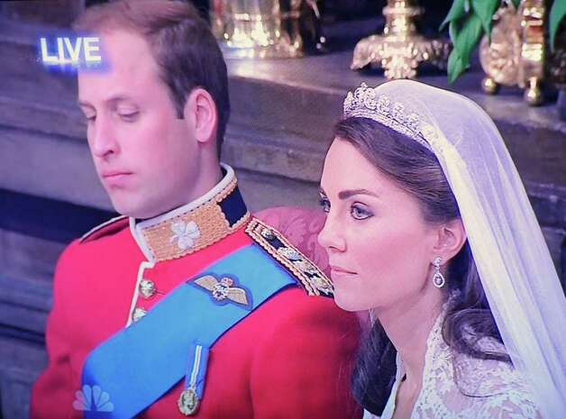 An image captured from the television coverage of the royal wedding on Friday, April 29, 2011.   (Skip Dickstein/ Times Union) Photo: Skip Dickstein