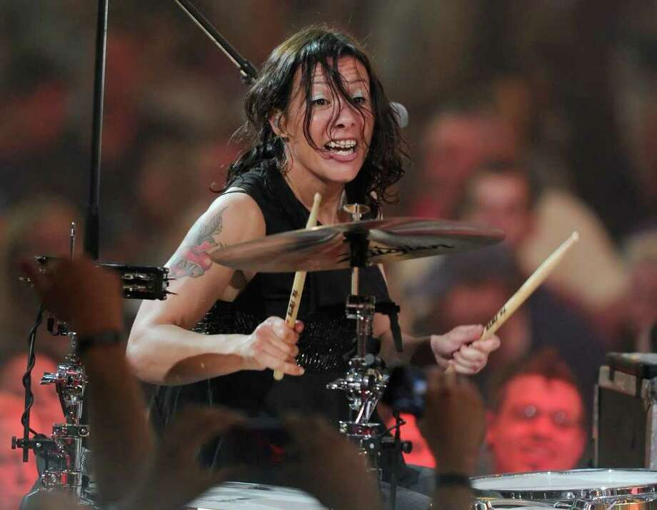 "LAS VEGAS, NV - APRIL 28:  Recording artist Kim Schifino of the band Matt & Kim performs during MTV's inaugural ""O Music Awards"" at the Fremont Street Experience April 28, 2011 in Las Vegas, Nevada.  (Photo by Ethan Miller/Getty Images) *** Local Caption *** Kim Schifino; Photo: Getty Images"