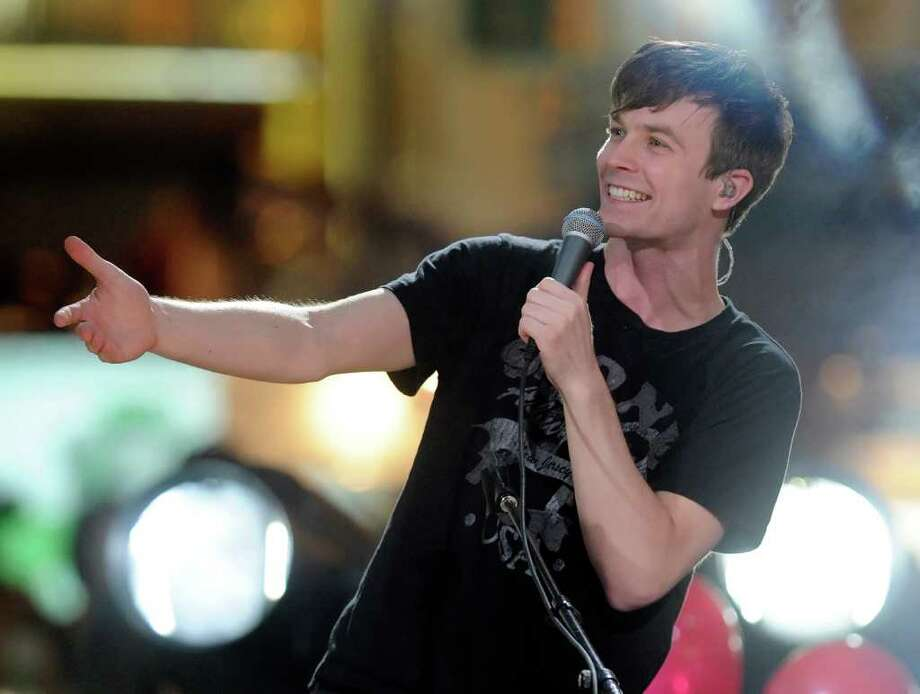 "LAS VEGAS, NV - APRIL 28:  Recording artist Matt Johnson of the band Matt & Kim performs during MTV's inaugural ""O Music Awards"" at the Fremont Street Experience April 28, 2011 in Las Vegas, Nevada.  (Photo by Ethan Miller/Getty Images) *** Local Caption *** Matt Johnson; Photo: Getty Images"