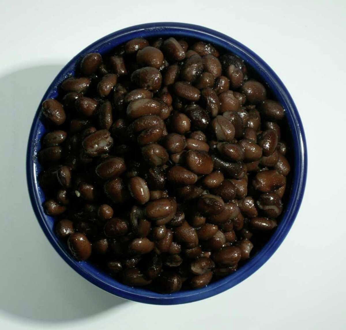 A bowl of black beans was shot in studio, 6/23/04, for a Food Cover. (Buster Dean / Chronicle)