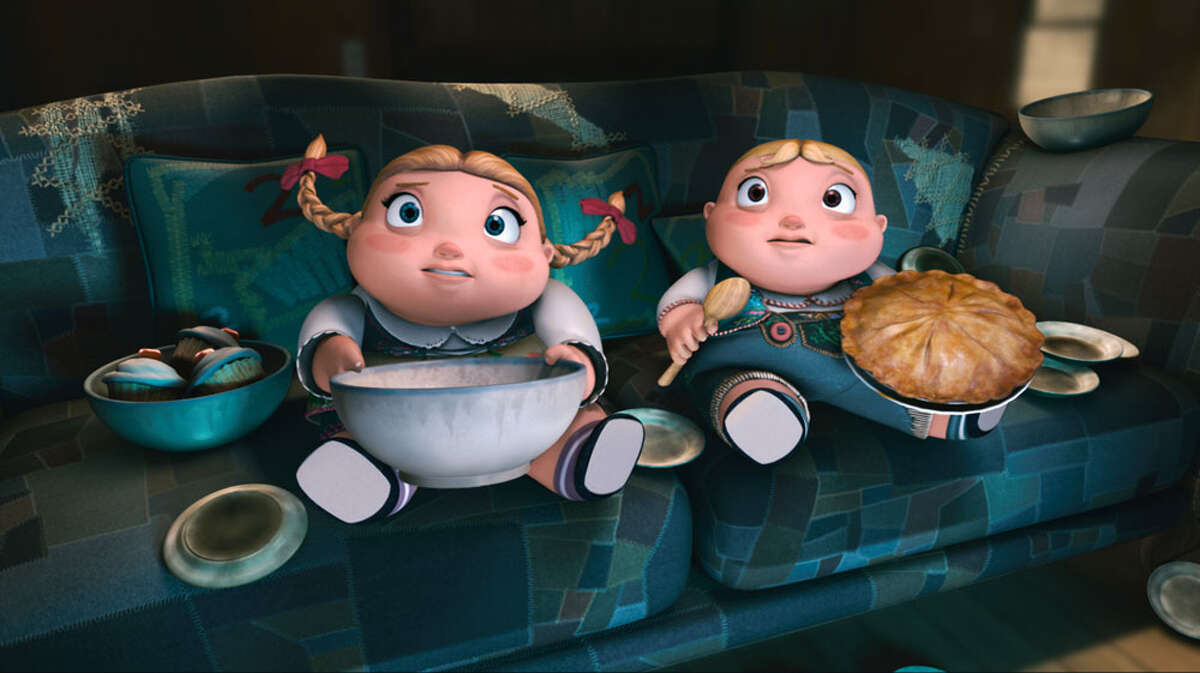 """Strudel-addicted twins Hansel and Gretel are voiced by Bill Hader and Amy Poehler in """"Hoodwinked Too."""" THE WEINSTEIN CO."""