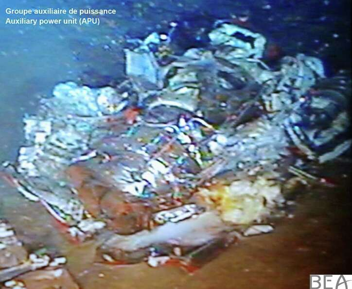 An image of the auxiliary power unit from Air France flight 447, released on Friday, April 29, 2011.