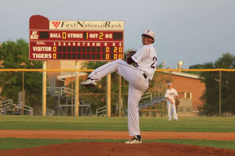 Izaiah Guerrero has a 7-2 record with a 1.72 ERA. He threw a no-hitter last week against Port Lavaca Calhoun. Photo: Courtesy Photo