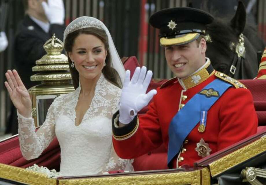 Newlyweds Kate and Will leave Westminster Abbey after the ceremony. Photo: Alastair Grant, AP
