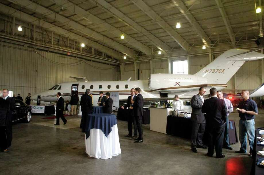 The new Citation Jet is unveiled at Westchester Airport in White Plains, New York on Thursday April 28, 2011. Photo: Dru Nadler / Stamford Advocate Freelance