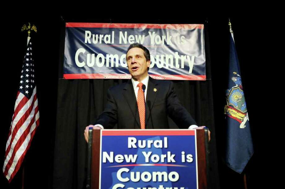 Gov. Andrew Cuomo speaks during the Democratic Rural Conference gathering on Friday, April 29, 2011, at Proctors in Schenectady, N.Y. (Cindy Schultz / Times Union) Photo: Cindy Schultz