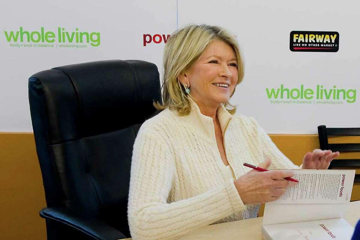 Martha Stewart signs copies of her new book