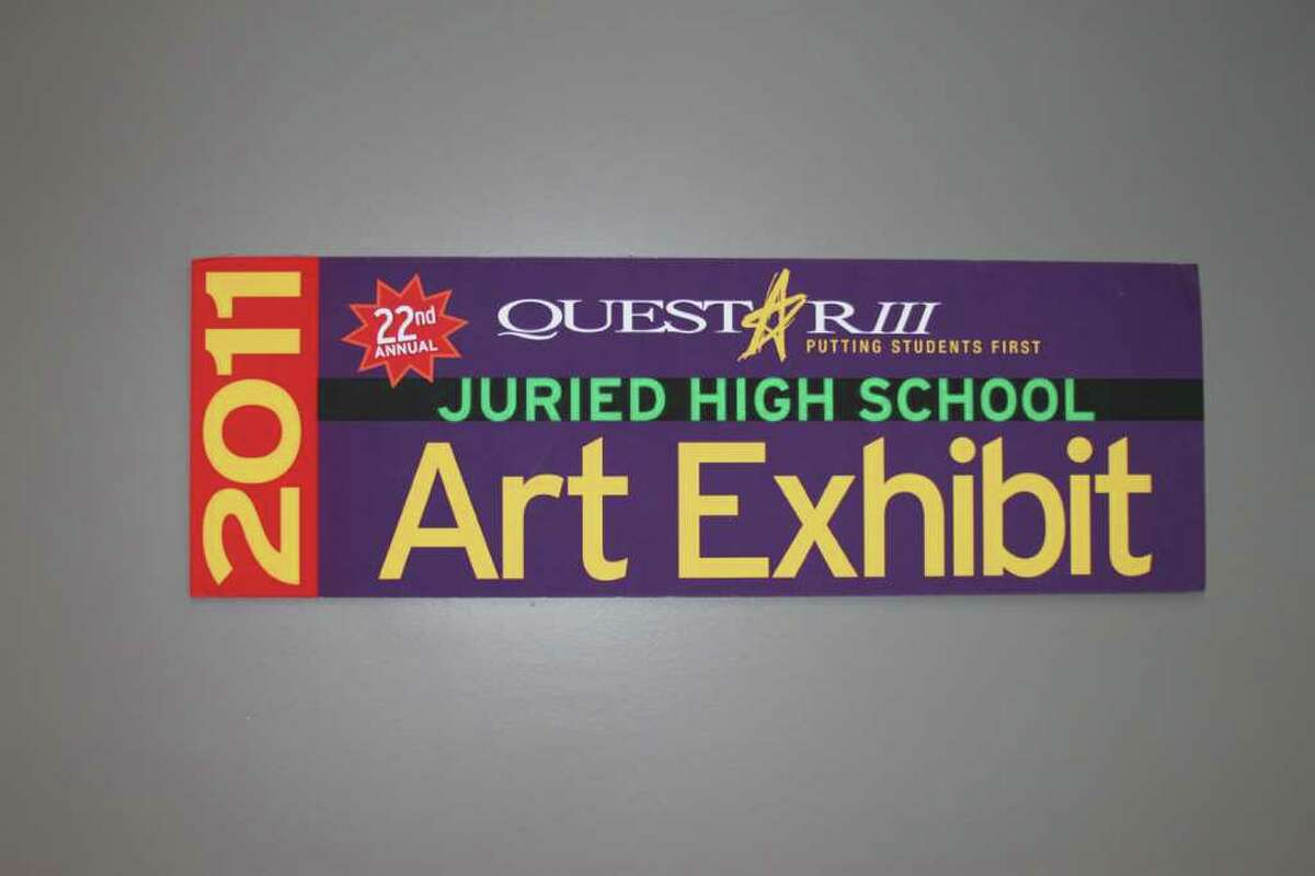 The sign for the Questar III 22nd Annual High School Art Invitational Exhibit at WMHT. (Courtesy Questar III)