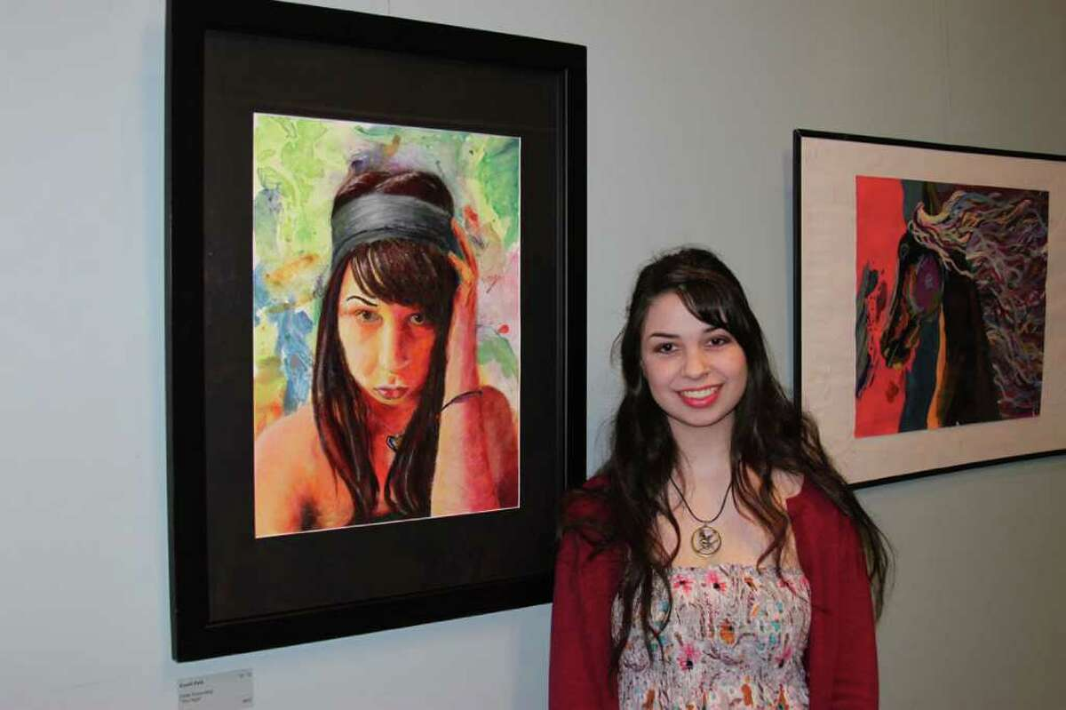 Questar III announced the winners of the 22nd Annual High School Art Invitational Exhibit at an opening reception held at WMHT Educational Telecommunications in Troy on April 13. Second Place: Emily Rosenberg, a senior at Averill Park High School, for ?The Night?, an acrylic. (Courtesy Questar III)