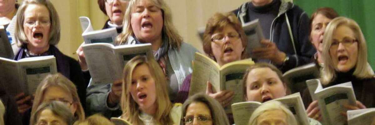 Battenkill Chorale rehearses for