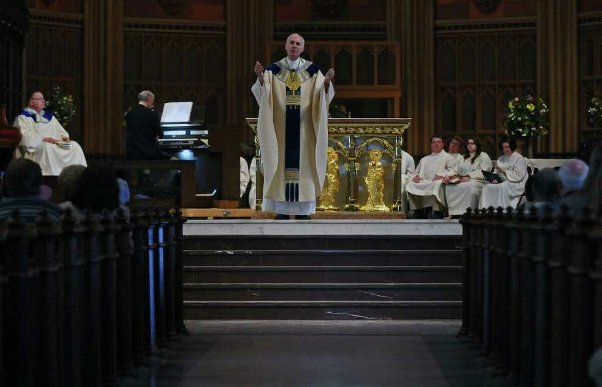 Albany's Cathedral of the Immaculate Conception celebrates a Mass of Thanksgiving for the Beatification of Pope John Paul II on Sunday, May 1. ( Philip Kamrass / Times Union )