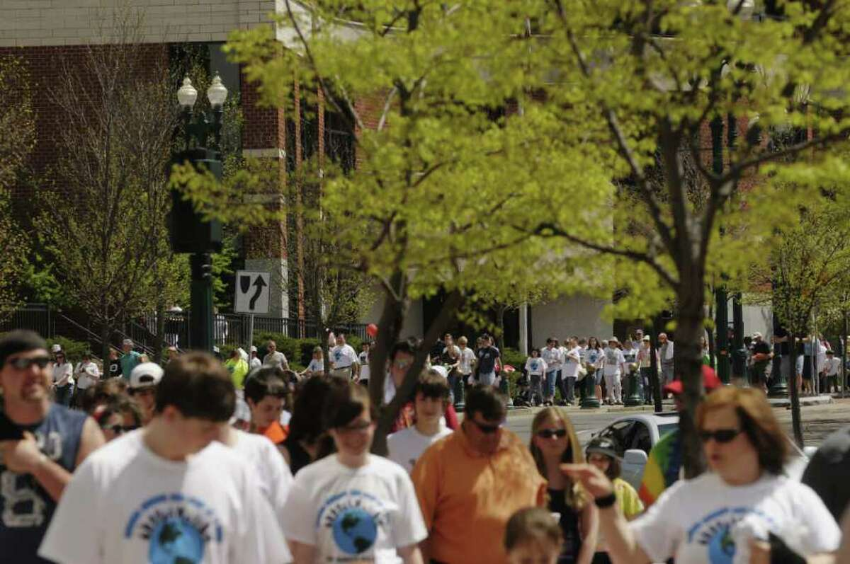The Schenectady CROP Walk was one of nearly 2,000 held across the country. The yearly event is held to raise funds for and awareness about hunger world wide. (Paul Buckowski / Times Union)