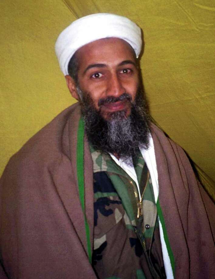 Arab militant Osama bin Laden poses for this undated photo. A U.S. official and experts identified bin Laden as the possible mastermind in the Sept. 11, 2001 attacks on the World Trade Center and Pentagon in the United States. Photo: Getty Images / Getty Images North America
